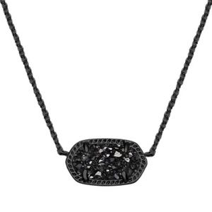 Kendra Scott Elisa Gunmetal Necklace